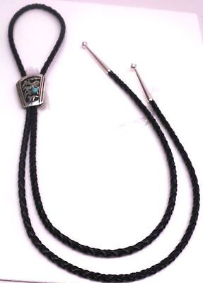Navajo Turquoise Sterling Silver Bolo Tie -T & R Singer