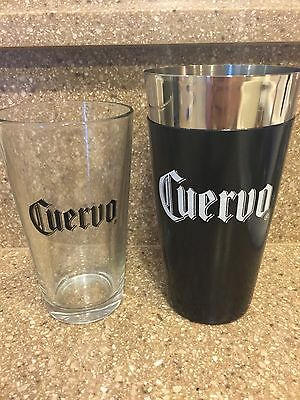 Jose Cuervo Tequila Rubber Shaker with Glass Pint Glass