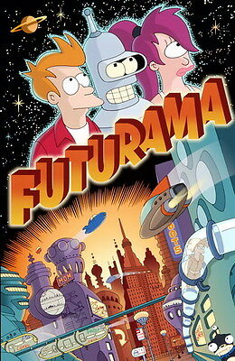 "009 Futurama - Fox Network USA Classic Cartoons 14""x22"" Poster"