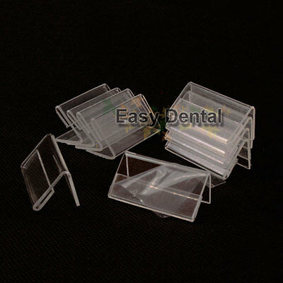 50pcs MINI Sign Display Holder Price Name Card Tag Label Shop Stand 4cm x 2cm