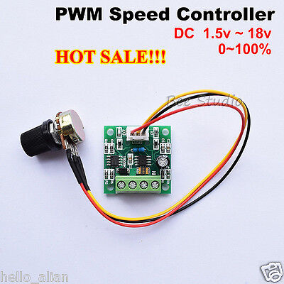 Low Voltage DC 3V 5V 6V 9V 12V 2A Mini PWM DC Motor Speed Controller Regulator