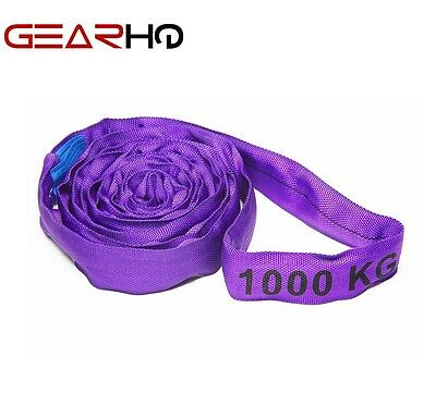 1T Round Lifting Sling Various Sizes 100% Polyester Comes With Test Certificate