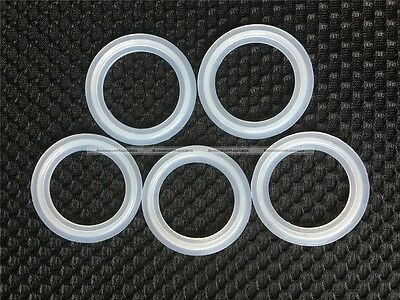 """5PCS 1.5"""" Sanitary Tri Clamp Silicon Gasket Fits 50.5mm Type Ferrule Flange S2"""