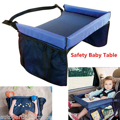 Safety Waterproof Snack Baby Car Seat Table Pushchair Kids Play Travel Tray Draw