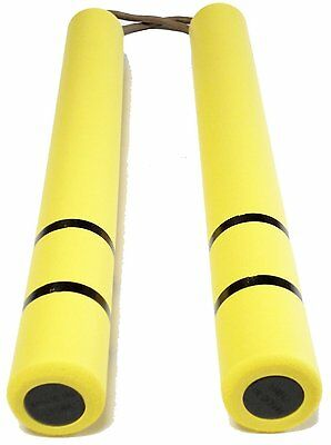 New! Bruce Lee Nunchaku Yellow Rubber Karate Stick from Japan! Dragon Ninja