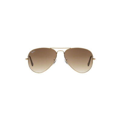 New Ray Ban Aviator Sunglasses RB3025 Gold Metal 001/51 58mm Brown Gradient Lens