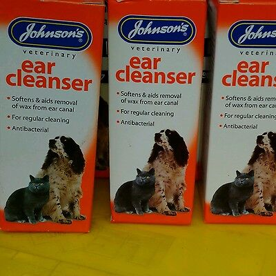 Johnsons ear cleanser, ear cleaner,Antibacterial for cats and dogs 40ml
