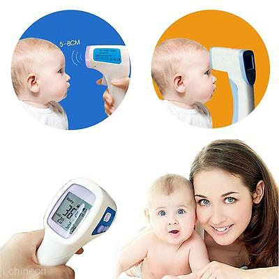 New Digital LCD Infrared Thermometer For Baby Adult Forehead Ear Temperature
