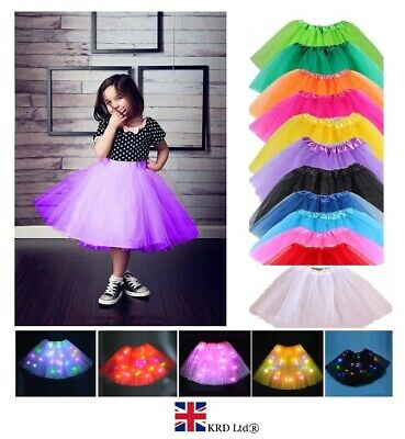3 LAYERS HIGH QUALITY KIDS GIRLS TUTU SKIRTS Fancy Skirts Tulle Dress Up Party