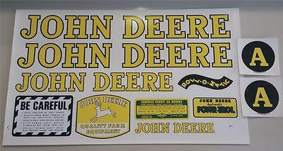 """John Deere Model A Tractor Precision Replacement Decal Set Water Transfer 17"""""""