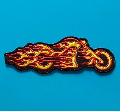 Ecusson (Patch)Brode/ Thermocollant/ Bikers Harley-Davidson Flammes /10 X 3,4 Cm