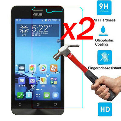 2Pcs 9H+ Real Tempered Glass Screen Protector Film For Asus Zenfone Smart Phone