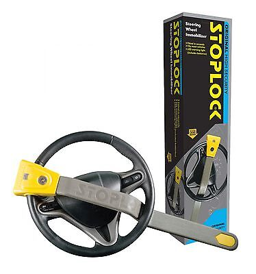 Stoplock Original Car Van Vehicle Anti Theft Steering Wheel Secure Lock with LED