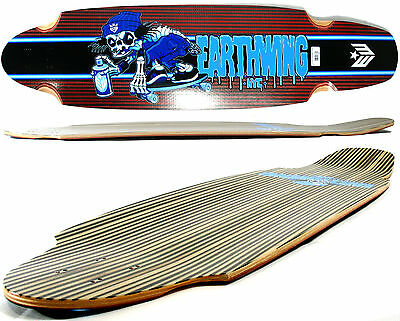 """EW - EARTHWING Longboard Deck - SUPERGLIDER Carbon 38"""" Bones RED - 5 ply"""