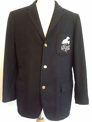 VINTAGE LOCK HAVEN COLLEGE 1960`s WOOL BLAZER MEN`S SIZE SMALL