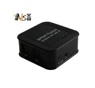 SPDIF TOSLINK Digital Optical Audio Switch Switcher Splitter Box 3 in 1 3x1 out