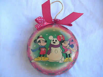 Mickey Mouse Minnie Mouse Christmas Ornament Vintage