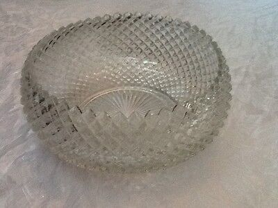 Miss America Clear Crystal Curved Top Rim Serving Bowl