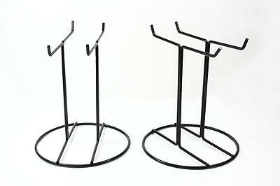 4 pieces Black Wire counter shop display stand keychain charms gifts jewellery
