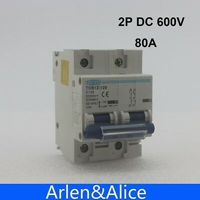 2P 80A DC 600V Circuit breaker FOR PV System