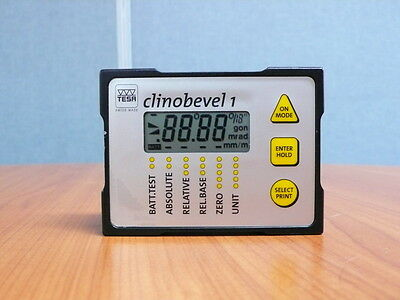 Electronic inclinometer TESA CLINOBEVEL 1 for Parts