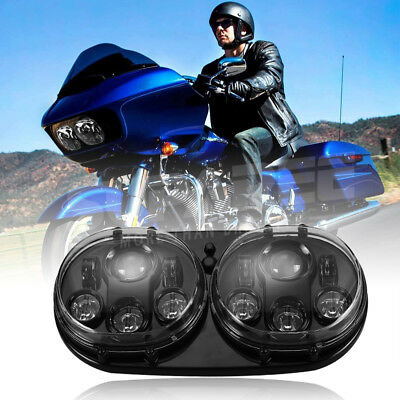 For Harley Road Glide 2003-2013 Cree LED Headlight Projector Daymaker Lamp H/L