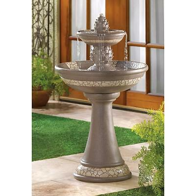 Mosaic Courtyard Fountain with Pump Garden Patio Deck Yard Indoors Water Feature
