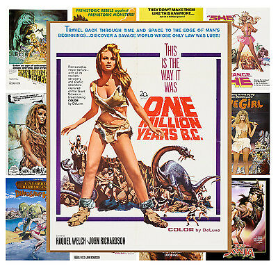 "Mini Posters [13 poster 8""x11""/A4] Prehistoric Girl Dinosaur Vintage Movie MP443"