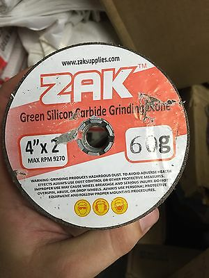 """Green Silicon Carbide Stone Grinding Cup 4""""x2"""" x 120 grit Zak"""