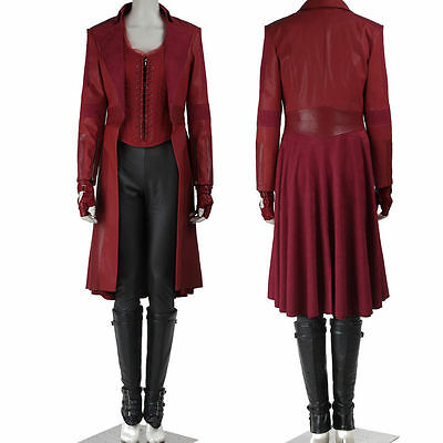 Popular Captain America 3 Civil War Scarlet Witch Cosplay Costume Customized