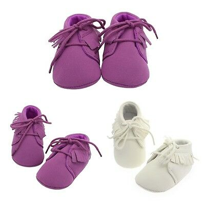 Newborn Baby Soft Sole Suede Shoes Infant Boy Girl Toddler Moccasin 0-18 Months