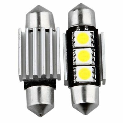 10X KFZ Canbus Soffitte Innenraum 36mm 3 SMD LED Weiß GY