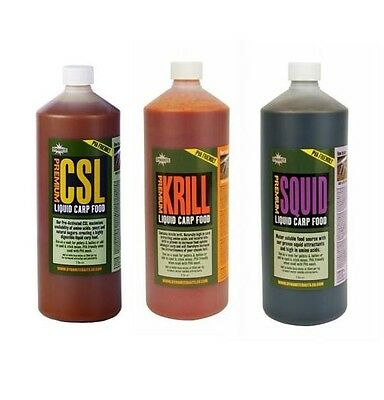 Dynamite Krill Csl Squid Liquid Carp Food 1Ltr Carp Fishing Bait