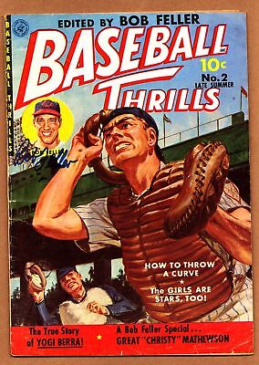 BASEBALL THRILLS #2 * autographed by Bob Feller * VGF