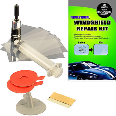 NEW Windshield Repair Kit DIY Auto Glass Resin Wind Screen Chips & Cracks WR01
