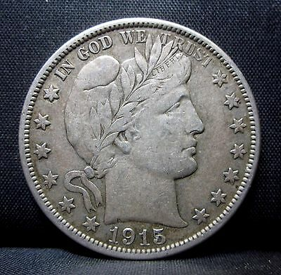 1915-D Barber Half Dollar ✪ Vf Very Fine ✪ 50C Silver Choice L@@k Now ◢Trusted◣