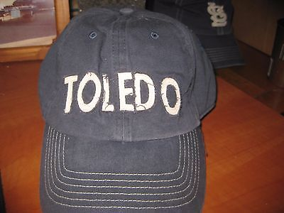 882f604330d University Of Toledo Rockets Small Fitted Navy Blue Mens Cap Hat New