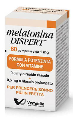 MELATONINA Dispert Integratore Alimentare Facilita il Sonno 60 compresse da 1 mg