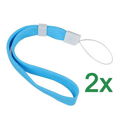 2X Blue Lanyard Hand Wrist Strap With Slide For Camera Phone DS PSP MP3 MP4 GY