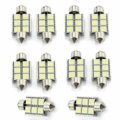 10x Soffitte Sofitte CANBUS Auto Lampe Licht 6 5050 SMD Weiss 12V 36mm GY