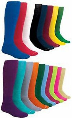 Kids X-Small Youth T-Ball Solid Color Baseball Socks Sock Size 3-5
