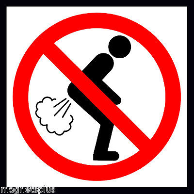 No Farting Sign Beer Fridge Tool Box Locker Man Cave Magnet