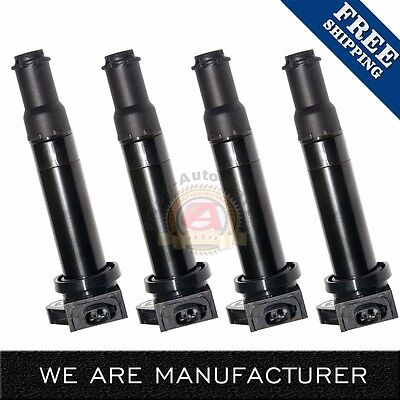 Set of 4 NEW Ignition Coil For Hyundai Accent Kia Rio UF499 27301-26640 C1543