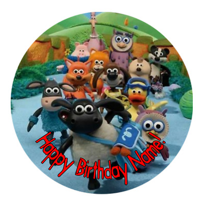 Timmy Time Personalised Edible Birthday Party Cake Decoration Topper Image