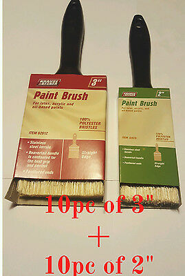 "20 brushes Mix 3"" and  2"" Professional Paint Brush Synthetic All Purpose"