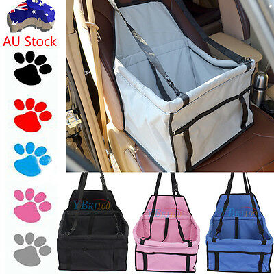 Dog Cat Pet Safety Car Seat Cover Booster Bag Travel Basket With Leash 4 Colors