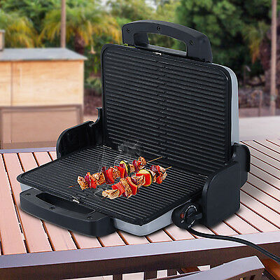 Outsunny 1.6KW Garden Electric Dual Plate Contact Grill Barbecue Portable BBQ