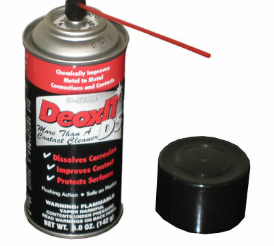 Hosa D5S-6 Caig DeoxIT Contact Cleaner 5oz Spray D5s SAME DAY SHIPPING! W/ STRAW