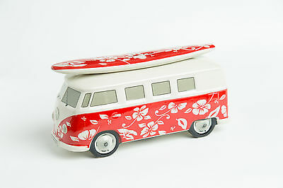 VW Surf Bulli T1 Spardose Hawaii rot