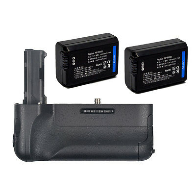 Pro Battery Hand Grip holder for Sony A7II A7RII A7M2 Camera+ 2x NP-FW50 Battery